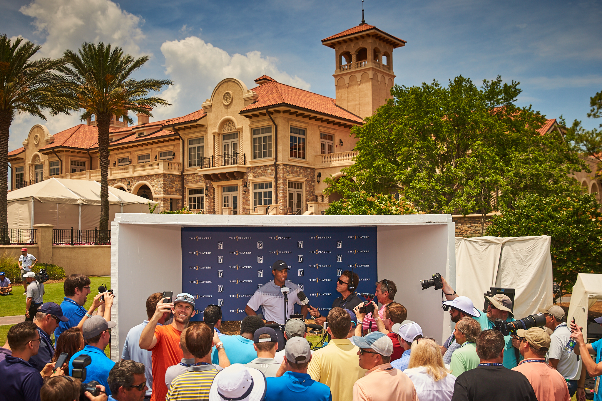 Tiger Woods and friends, 2018 The Players Championship, TPC Sawgrass for the PGA Tour.  Canon 1DX, Canon EF 24-70mm f2.8L