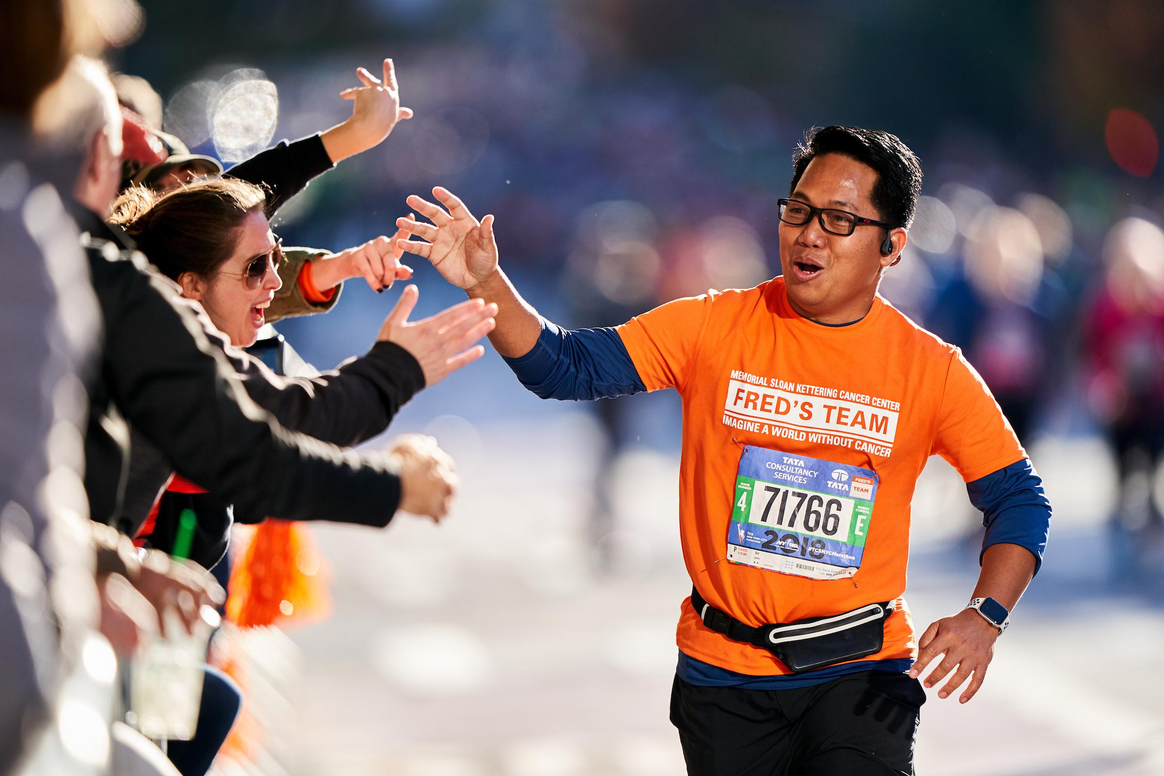 2018 New York City Marathon, New York, New York for Memorial Sloan Kettering Cancer Center.  Sony A9, Sony 400mm f2.8 GM-OSS