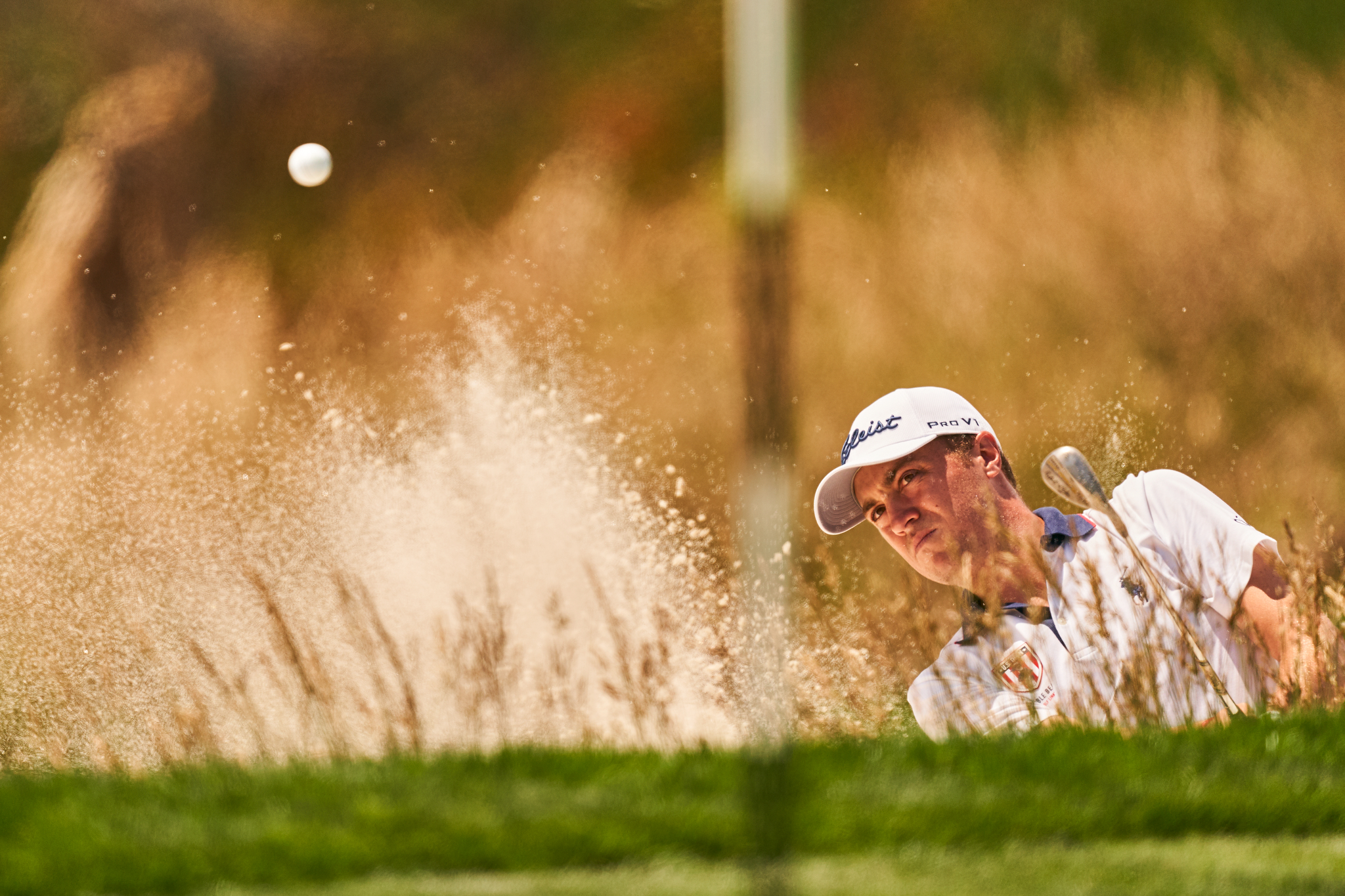 Justin Thomas, Tuesday practice round.  Sony A9, Sony FE 600mm f4 GM-OSS.