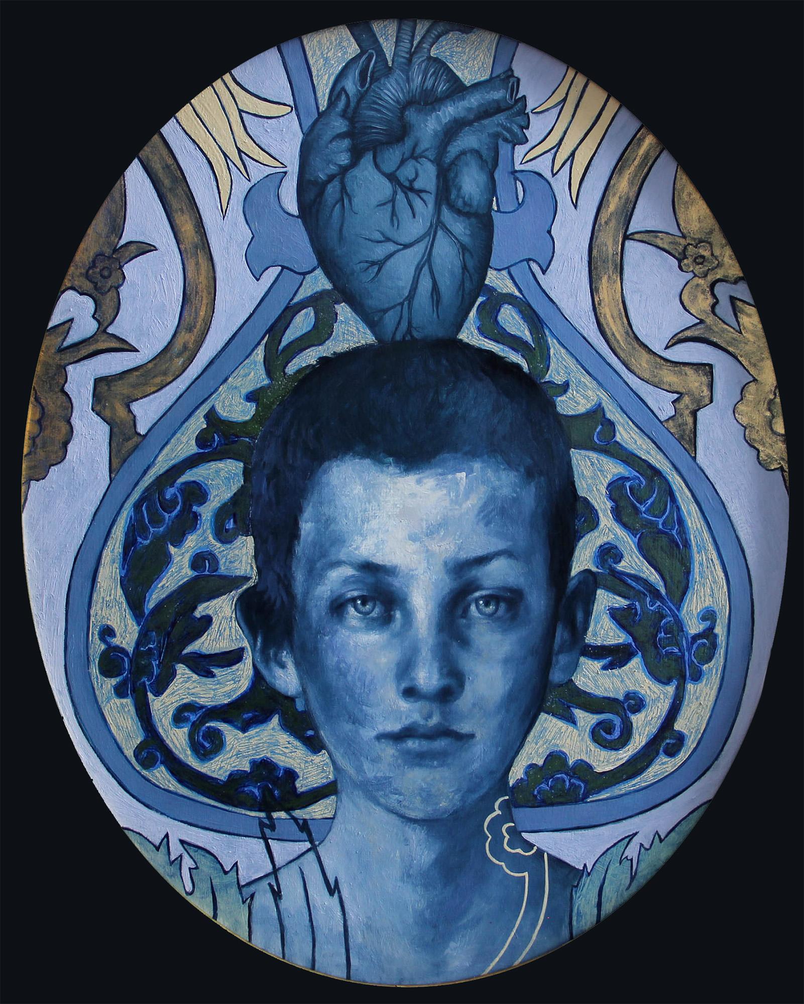"The Heart Wants   Oil, encaustic, enamel, & antique pigment on panel, 16"" x 20"", 2016  available"