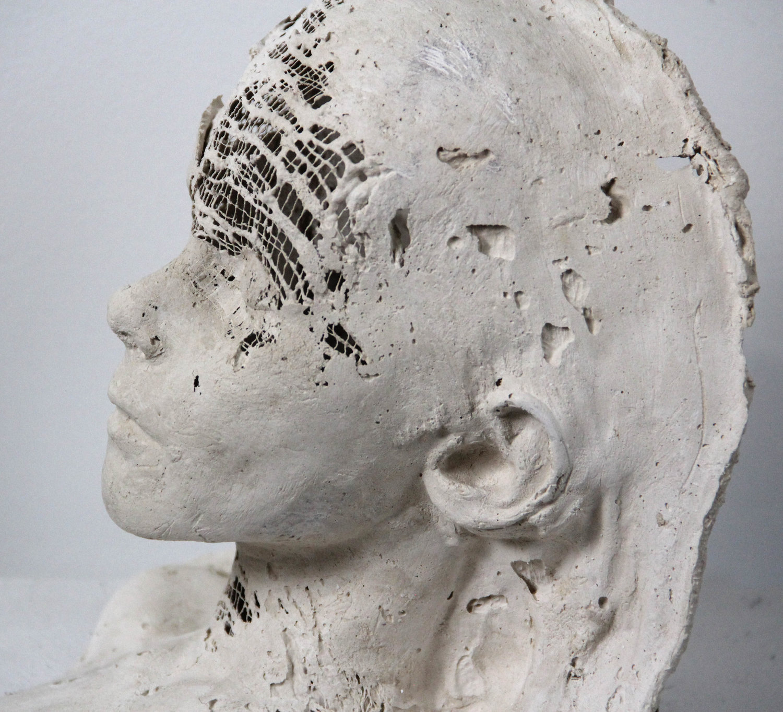 Mask 2 Paper Mache Sculpture Caitlin Karolczak