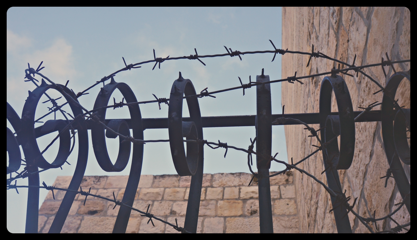 Barbed wire in the OId Town in Jerusalem