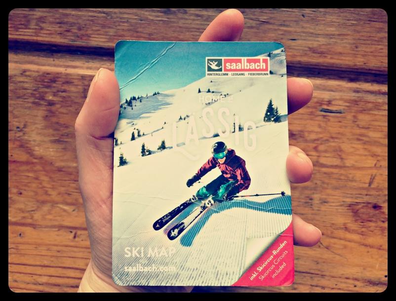 Pocket ski map