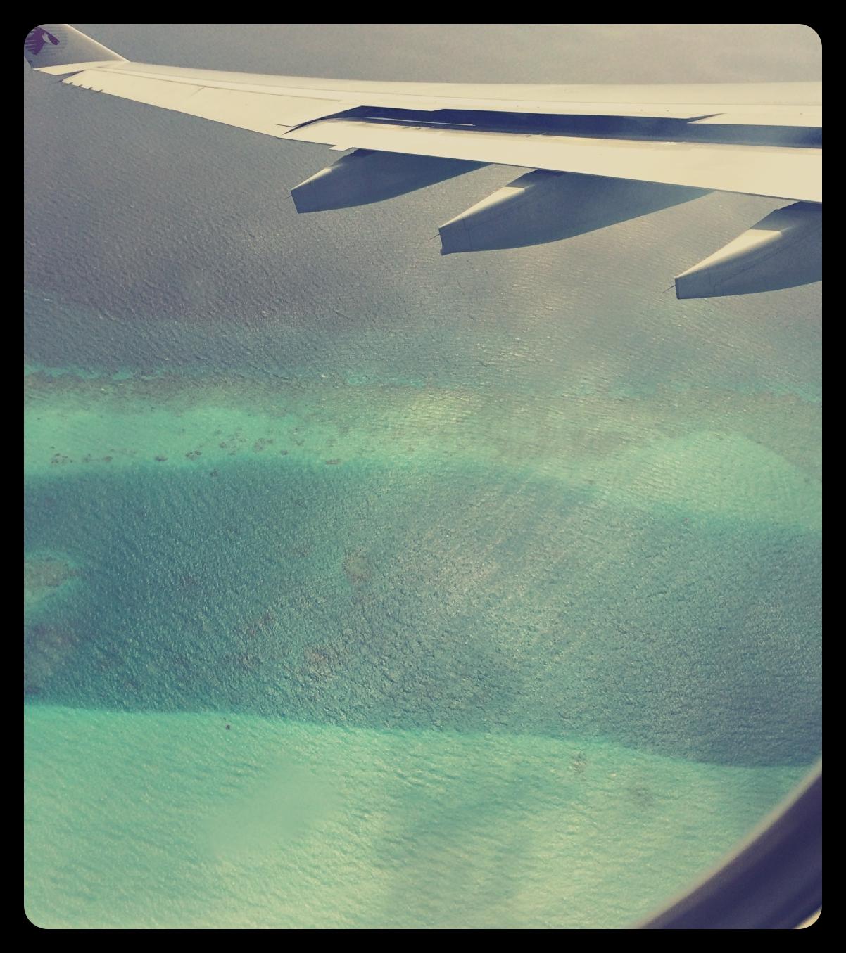 Widok z samolotu na Ocean Indyjski