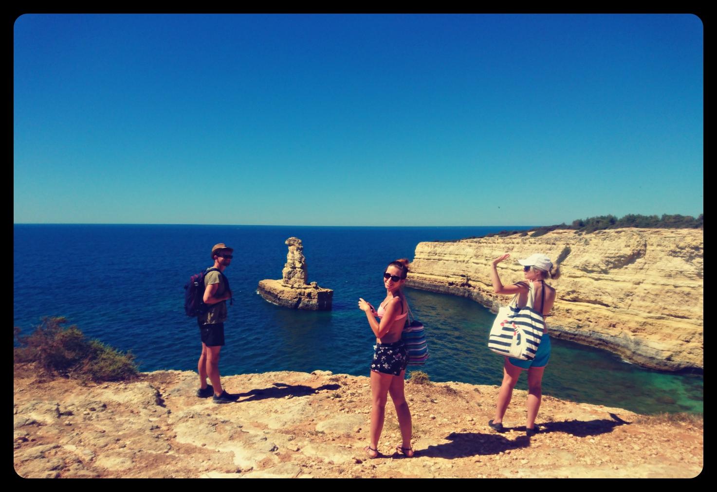 Trekking on the cliffs