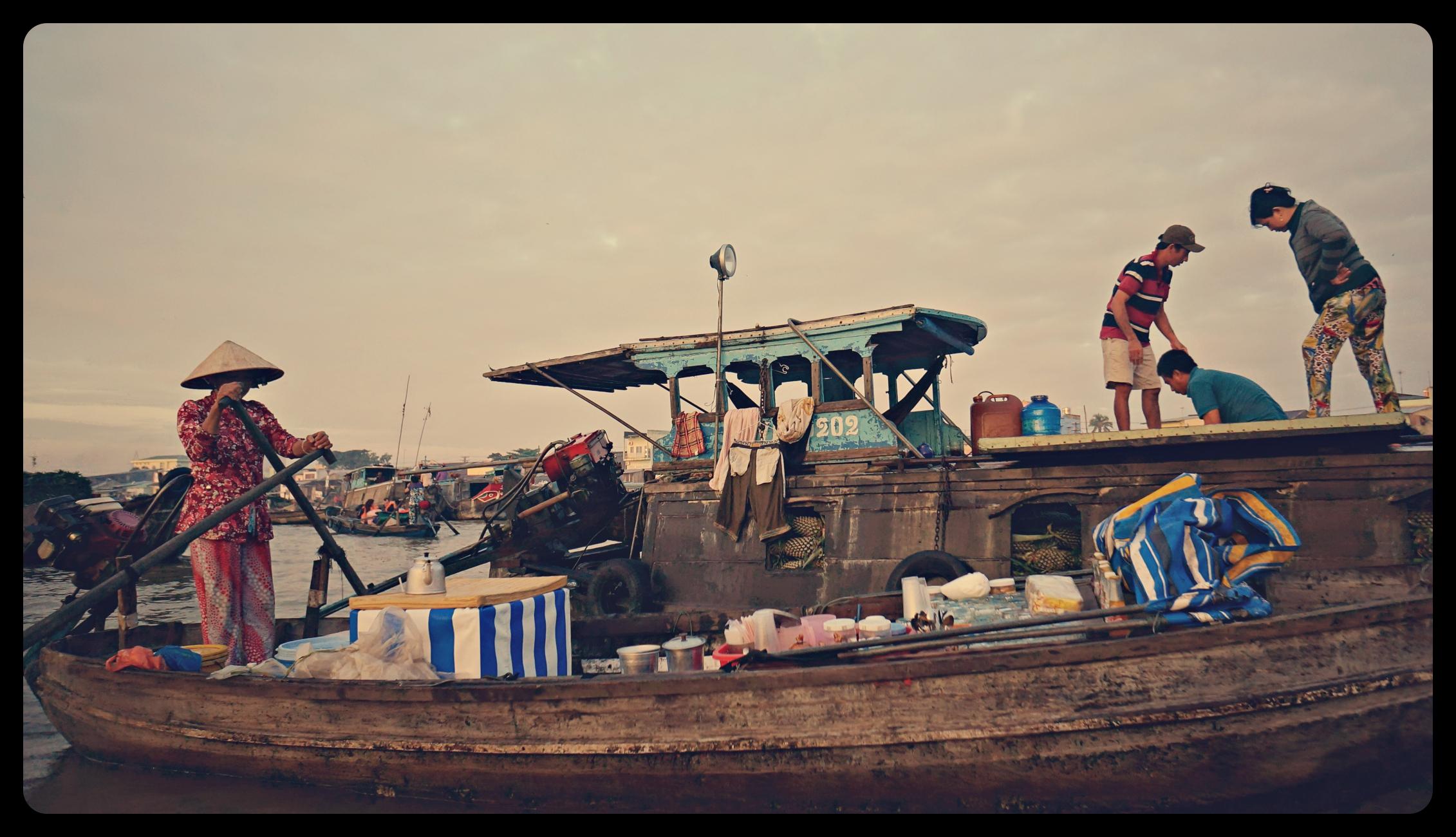 Pływający targ Cai Rang