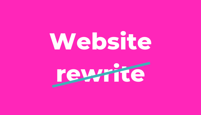 How to rewrite your website content