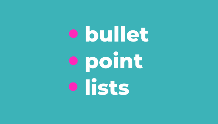 How to punctuate bullet points
