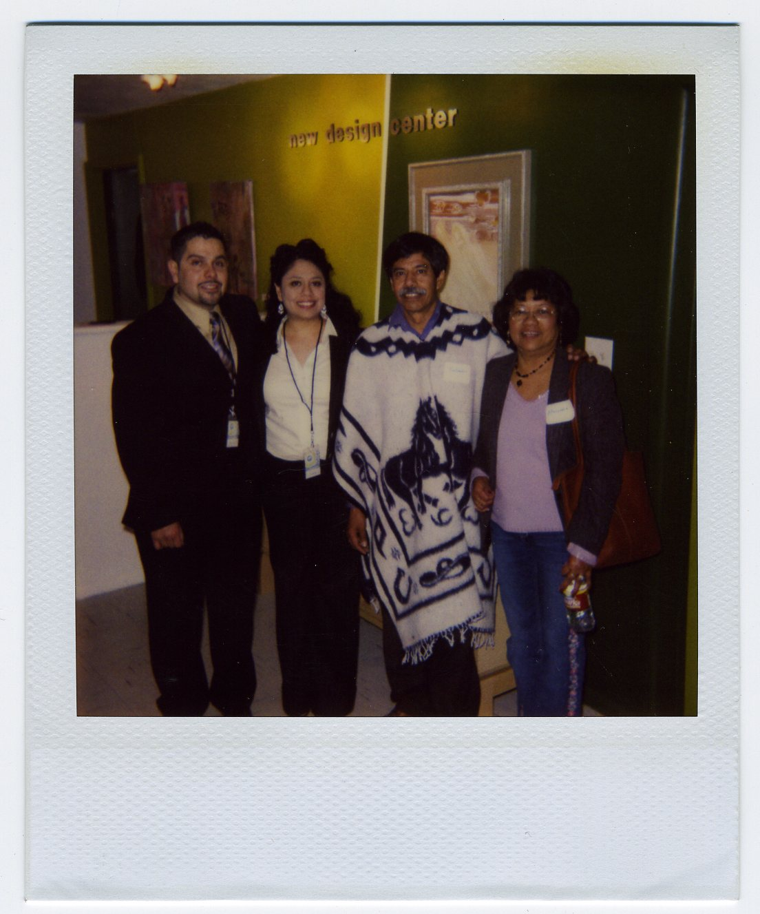 2007, New Design Center (before we were a licensed school) First Home Celebration at 572 (then West 6th St.) Martin Luther King Jr. Blvd.  From left to right: Marcos, Sonia, Salvador and Mercedes Gutierrez