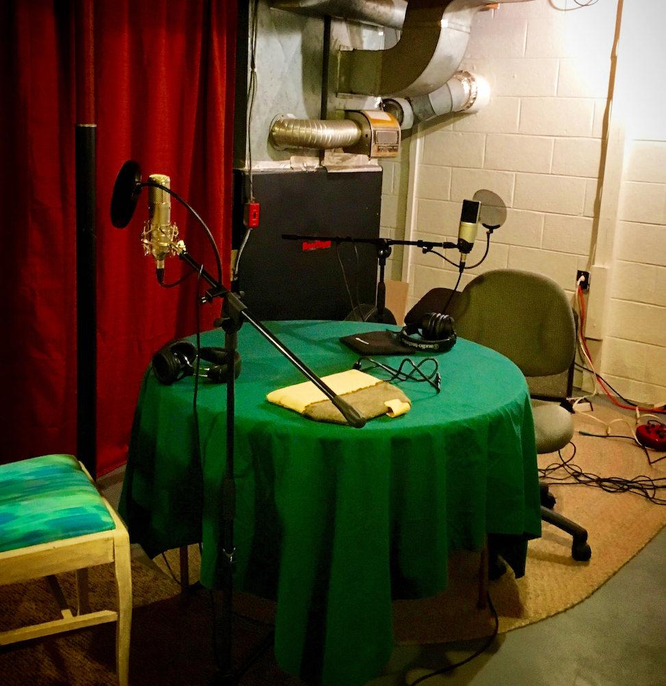 Cat's podcast setup