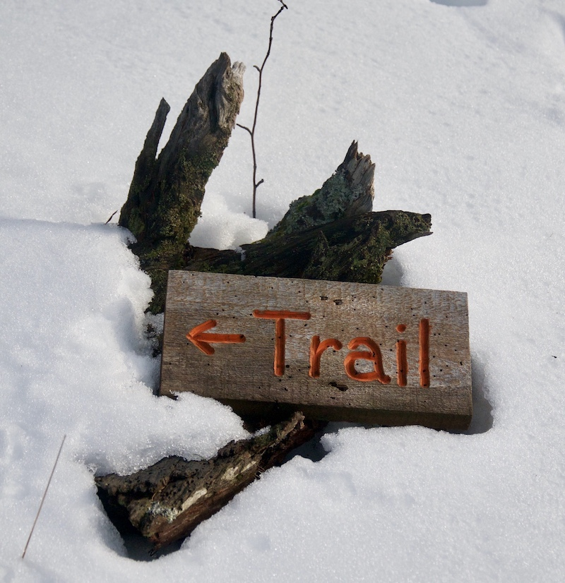 Keweenaw trail sign