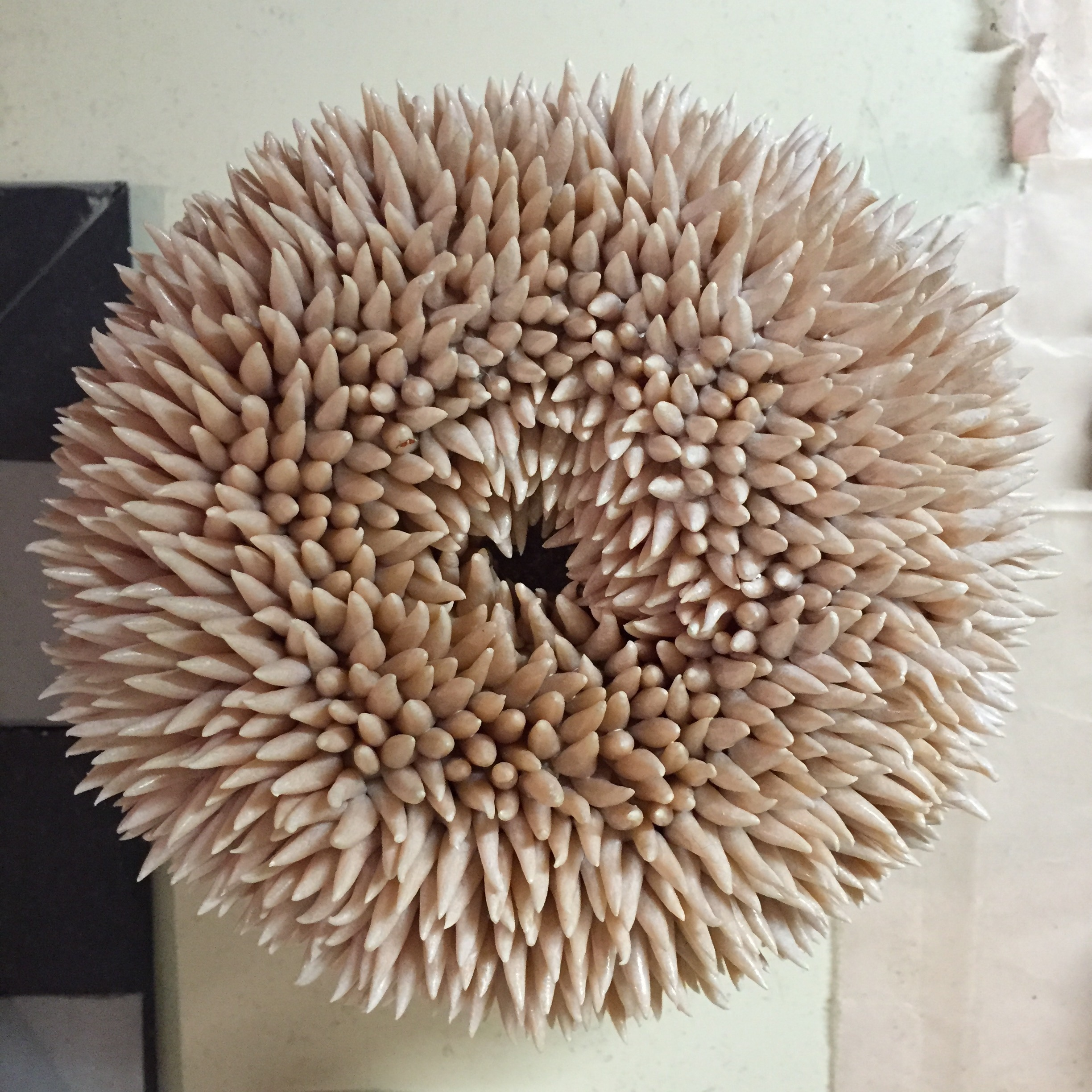 Urchin, 2013, acrylic enamel on polymer clay, variable dimensions