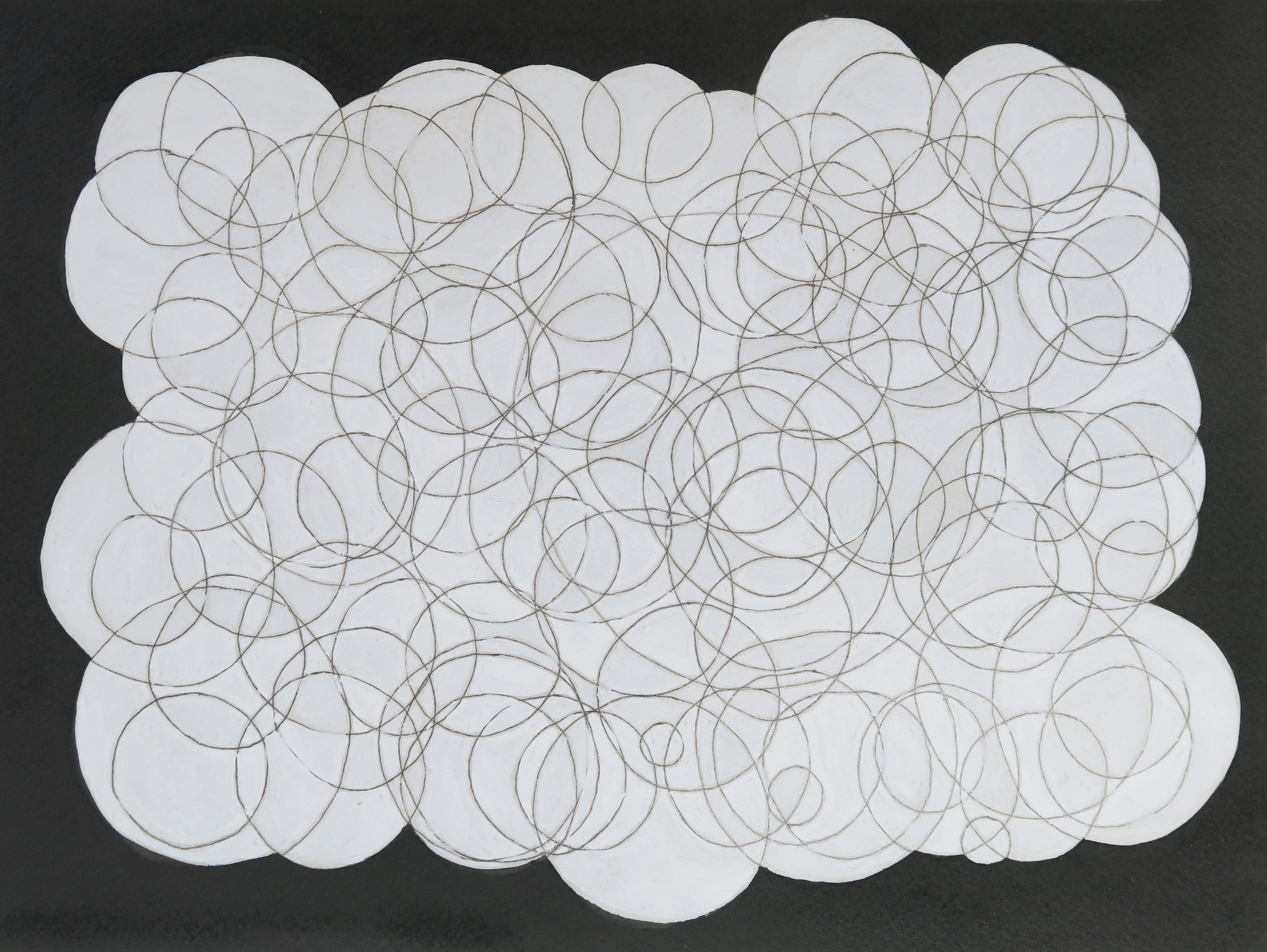 Circles drawing IX, 2011, pen & ink on paper, 24x32cm