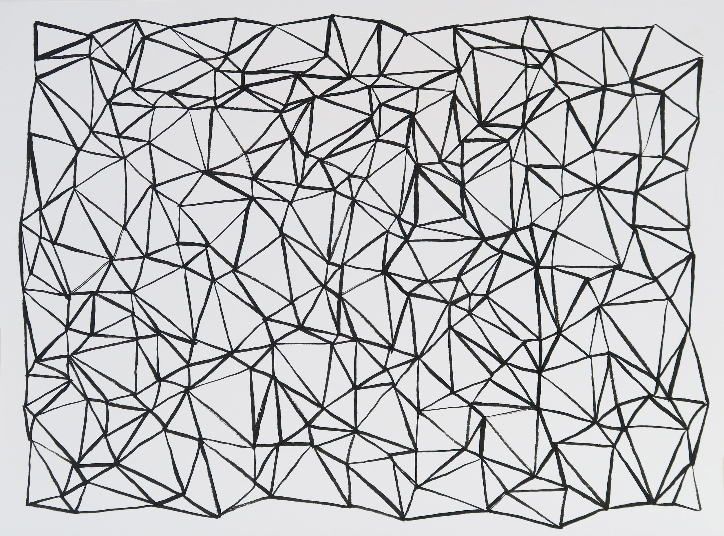 Black line drawing, 2012, ink on paper, 24x32cm