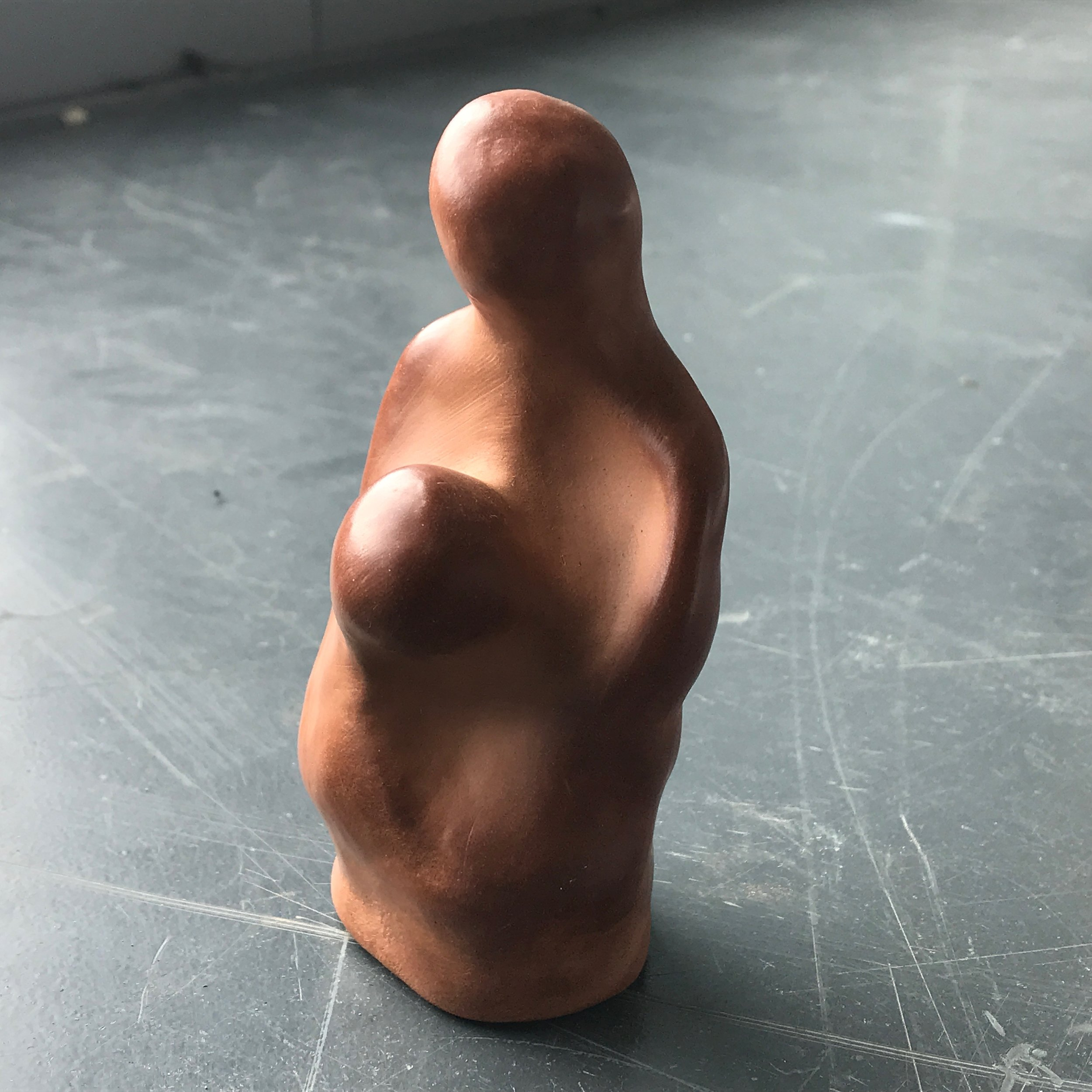 Hold, 2018, burnished air dried terracotta clay