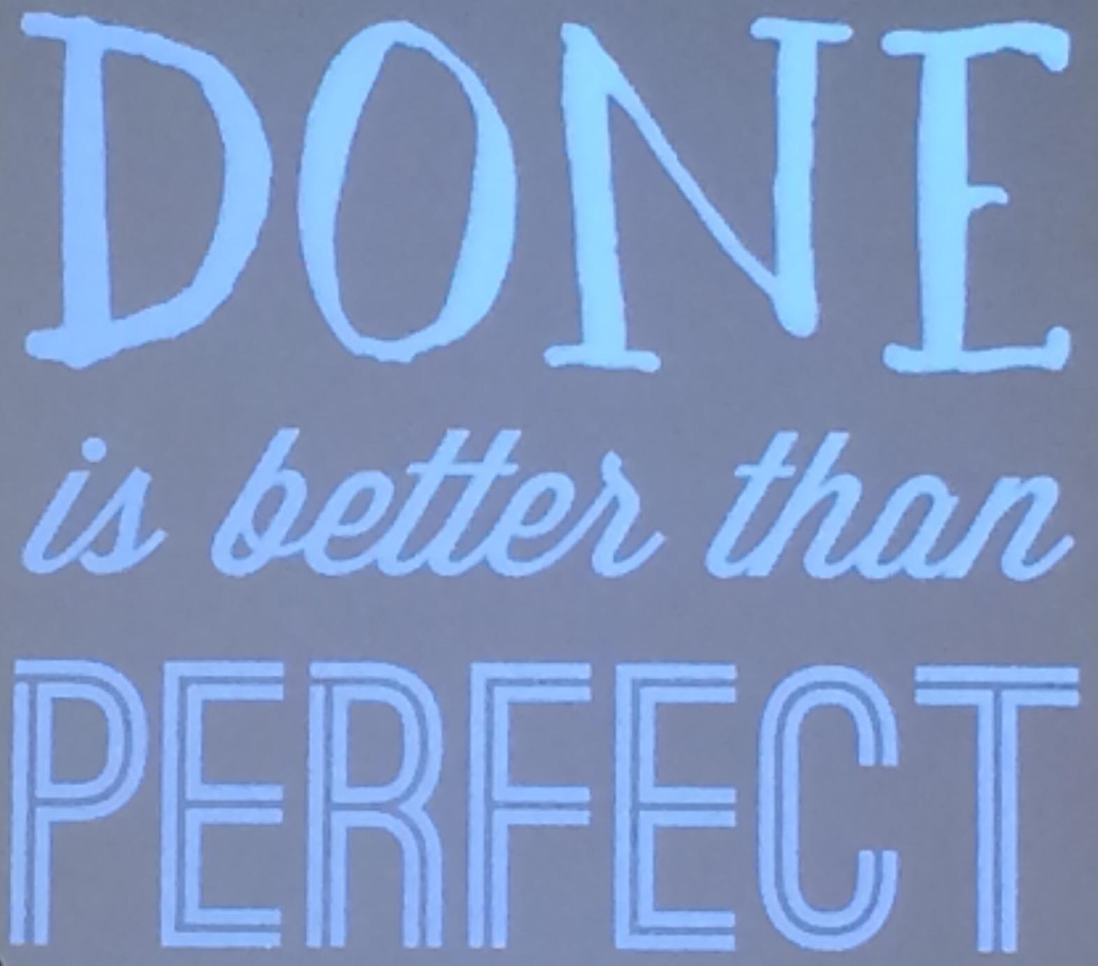 Livet behöver inte vara perfekt för att vara fantastiskt!