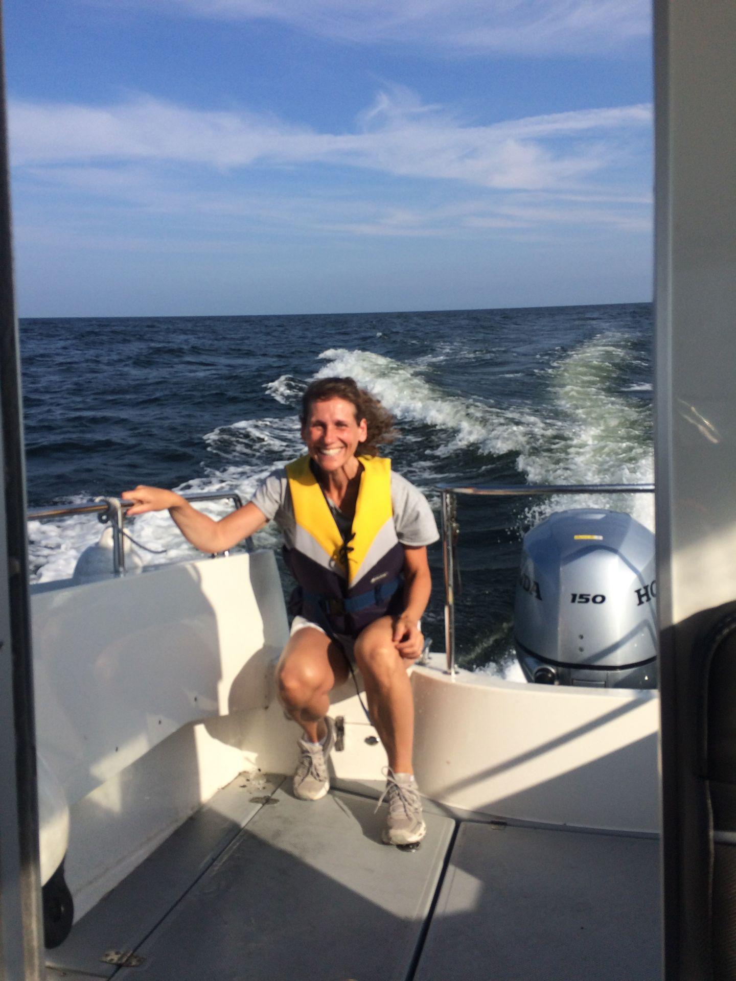 Igår utsatte jag mig för en tillfällig stressituation - åkte motorbåt över Finska viken!