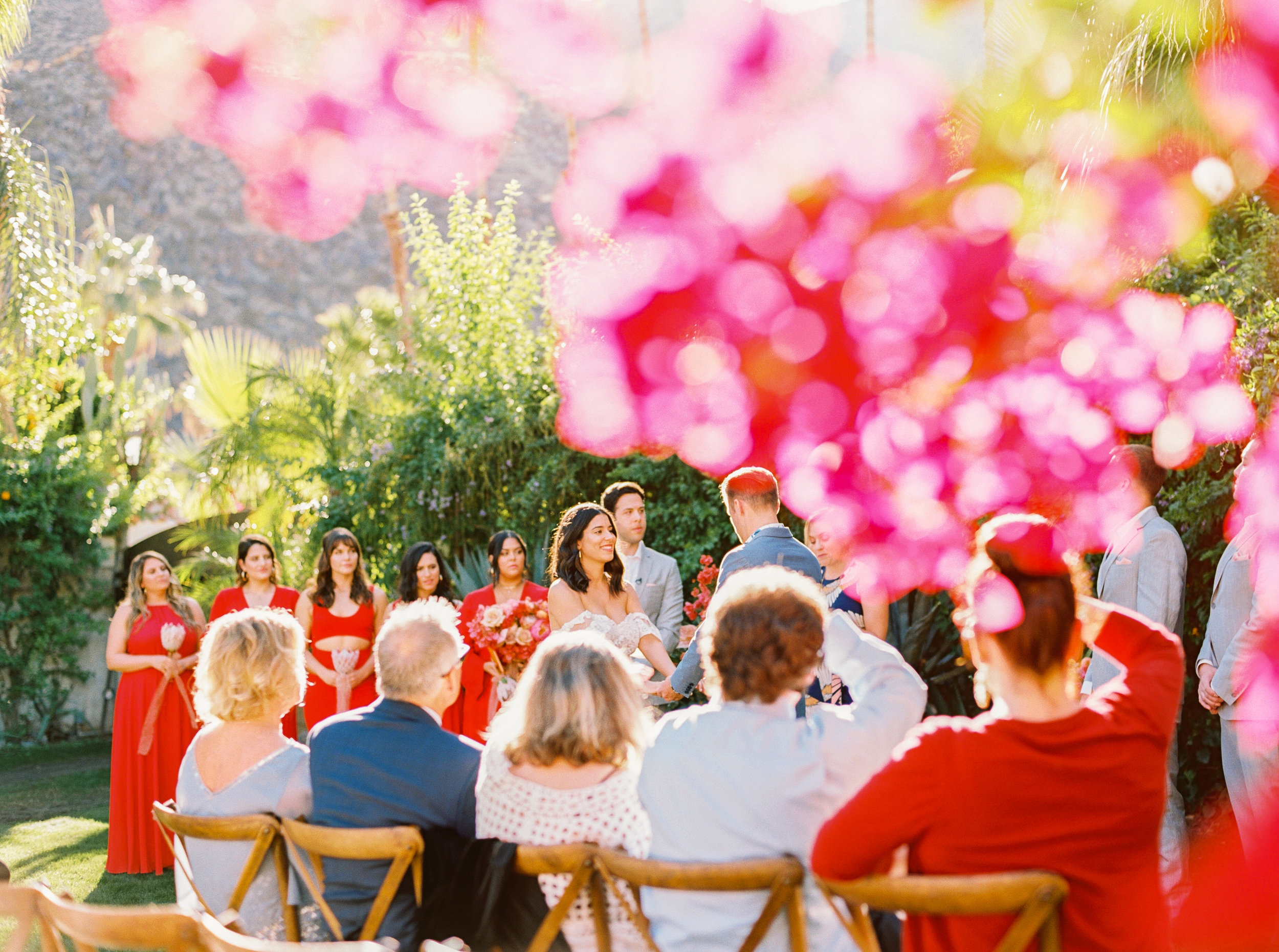 PALM SPRINGS BOUGAINVILLEA WEDDING