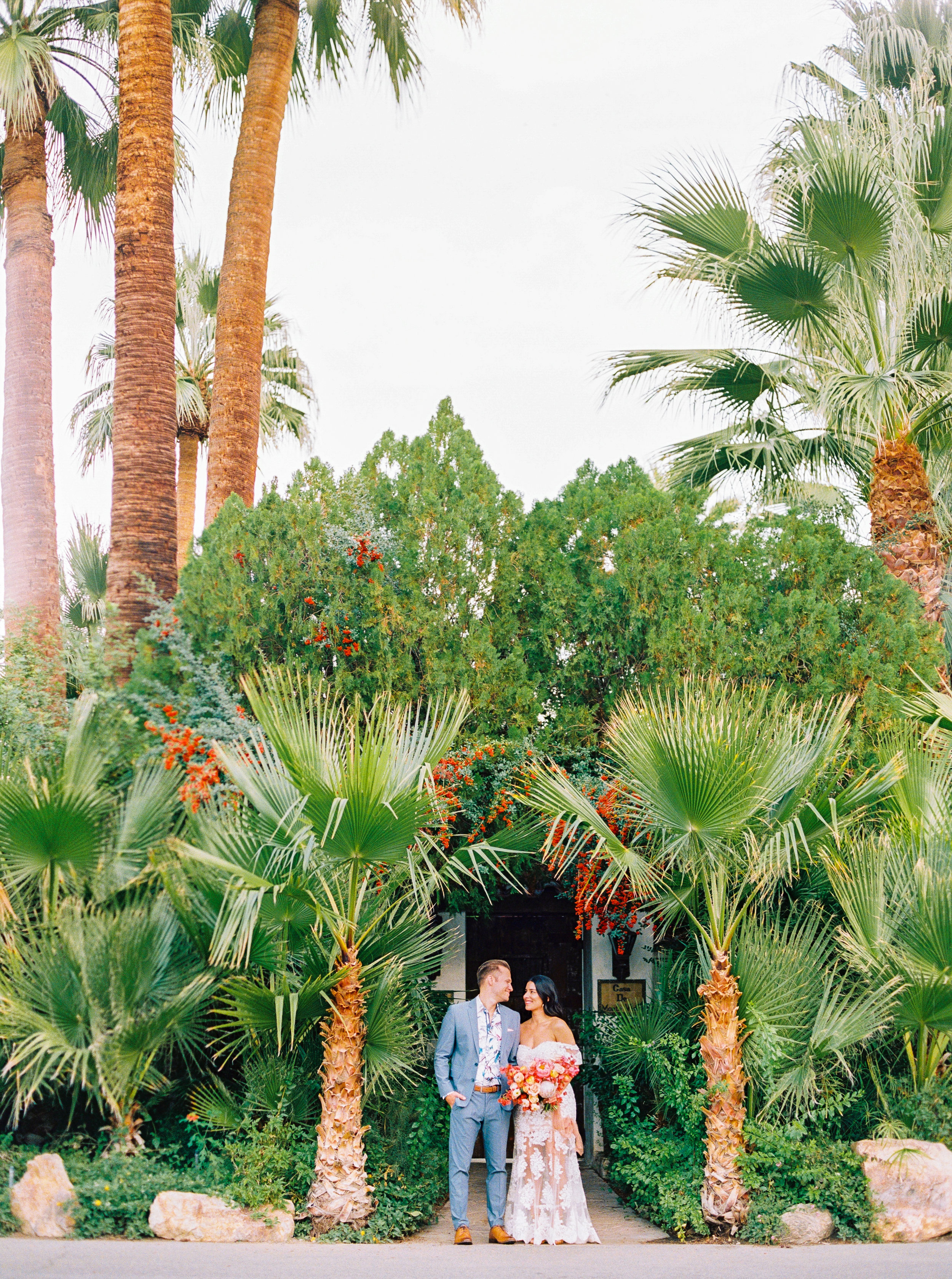 PALM SPRINGS WEDDING BOUGAINVILLEA WEDDING