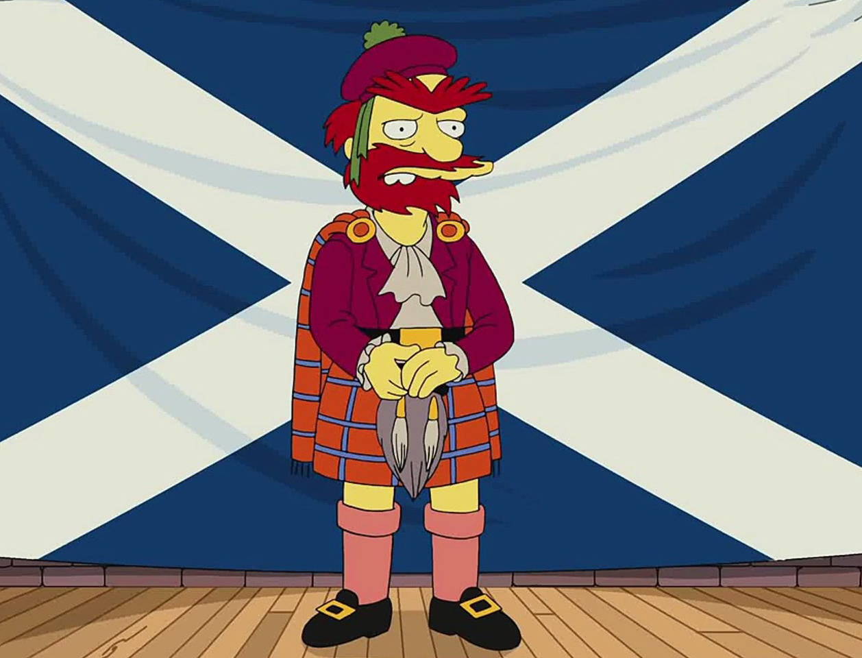 Groundskeeper Willie is a registered trademark of The Simpsons and 20th Century Fox