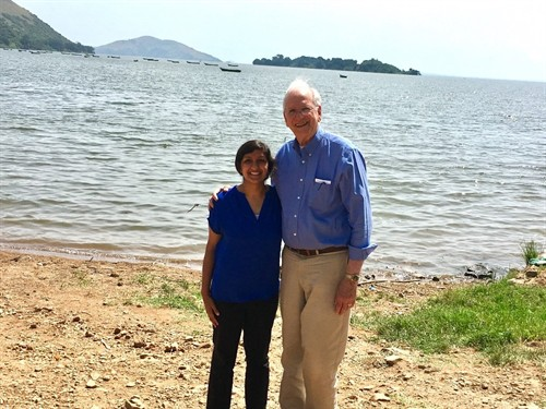 Me with Joe at Lake Victoria-already one of my favorite pictures