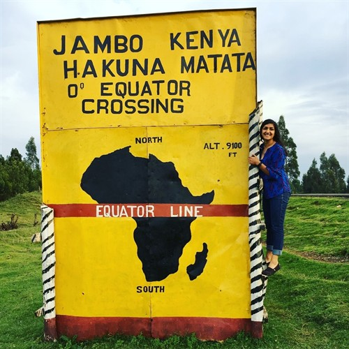 This sign is on on [sic] the side of a very plain road on the way to Nakuru County, but pulling over and taking a picture with it is a must before leaving Kenya