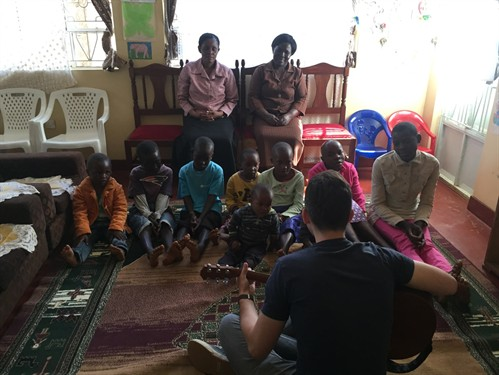 Music at the Amani Center.