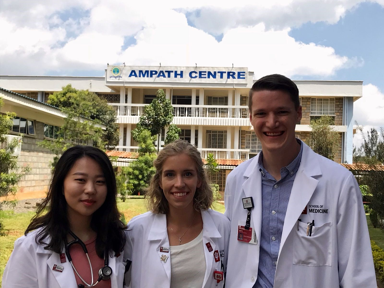 Photo of Diane, Maddy, and I on our first day at the AMPATH clinic