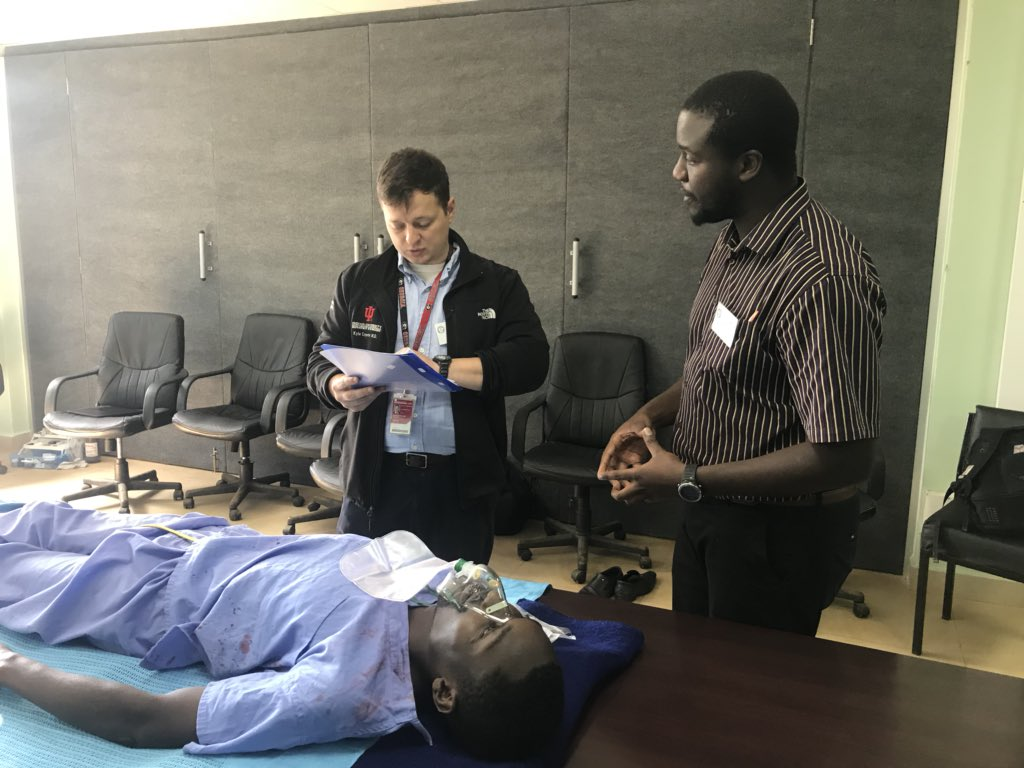 Kyle Carpenter, MD at the first Advanced Trauma Life Support training course offered in western Kenya.