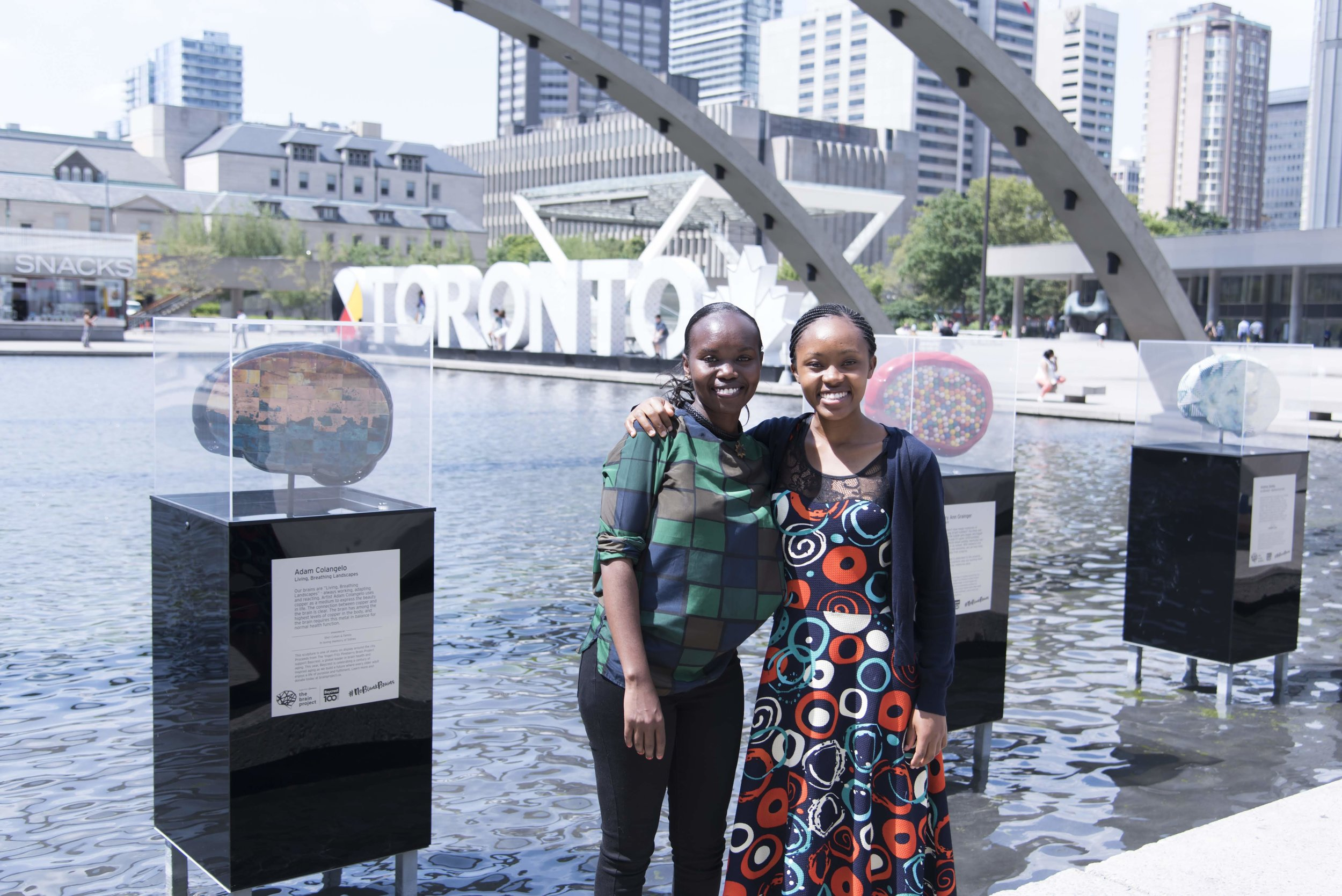 Tabitha Maisiba (right), observing Kenyan medical student at the University of Toronto Department of Obstetrics and Gynecology enjoys the sights of Toronto with colleague Winnie Rotich.