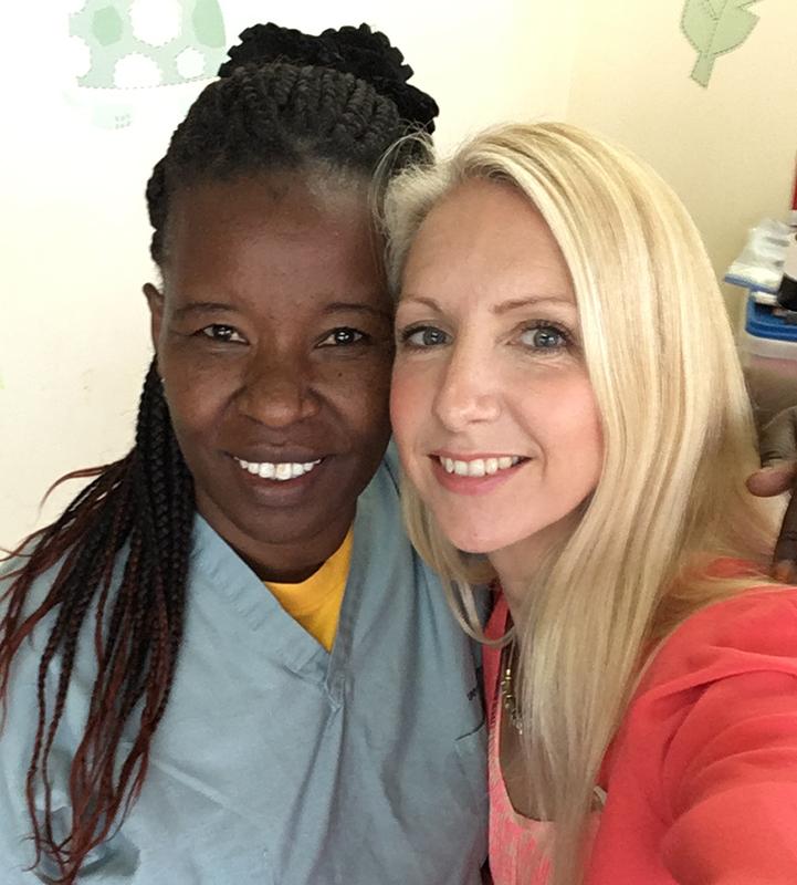 Jayne Kamau and her friend and mentor Morgan Livingstone.
