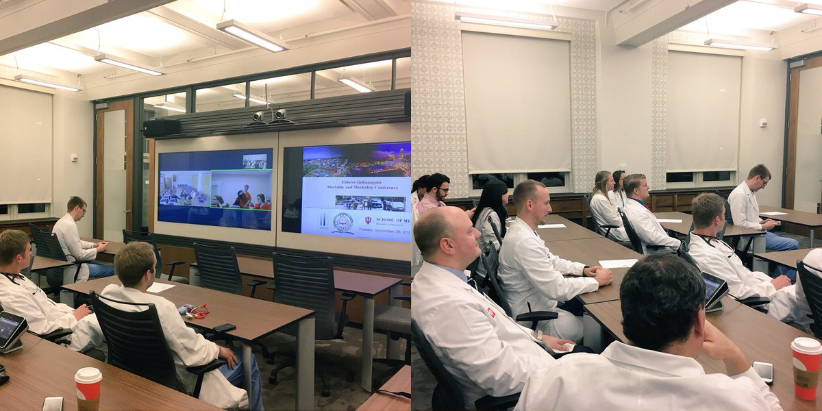 Physicians and trainees in Indianapolis learn from teleconferences with colleagues in Kenya.