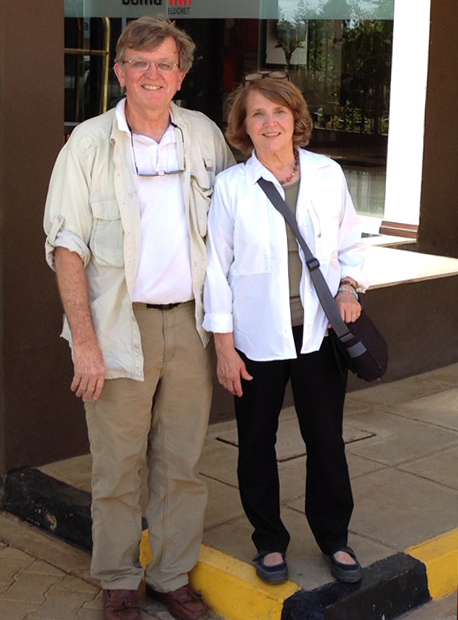 John and Dale Lawrence spend several months of the year in Eldoret.