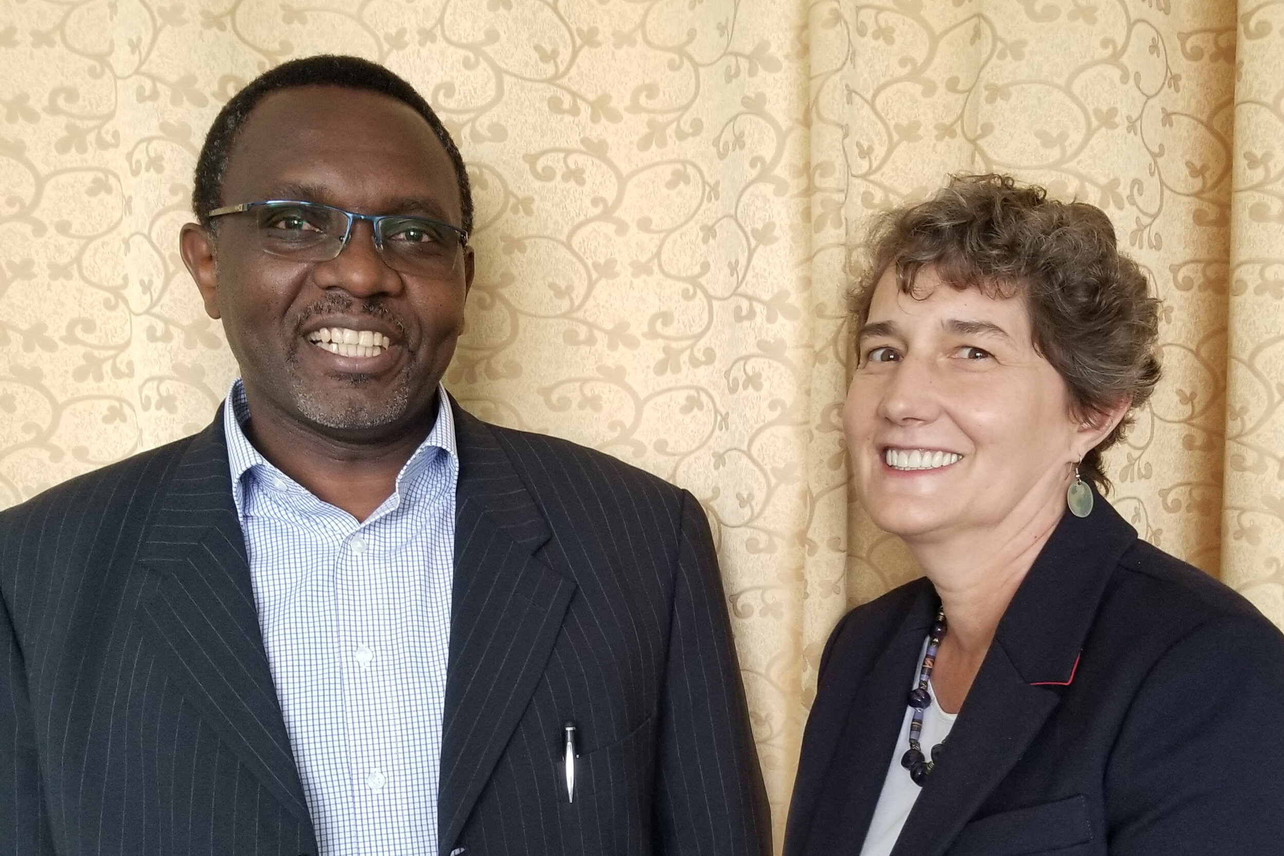 Professor Winstone Nyandiko and Dr. Kara Wools-Kaloustian are AMPATH's directors or research.