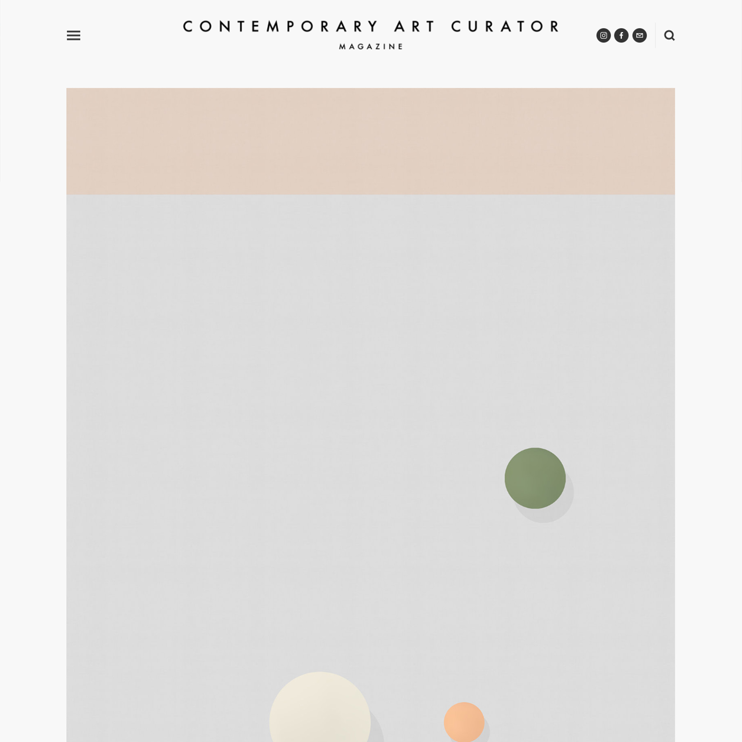 Contemporary Art Curator Magazine   May 5, 2018