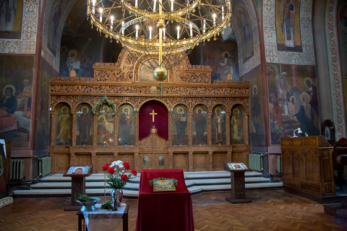 Interior of the basilica of Veliko Tarnovo, Bulgaria