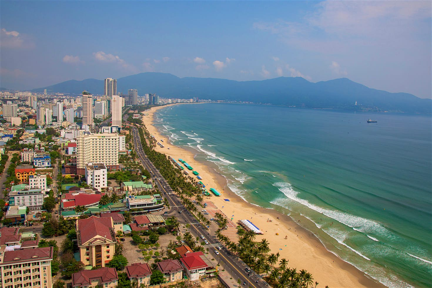 Danang's coast in February