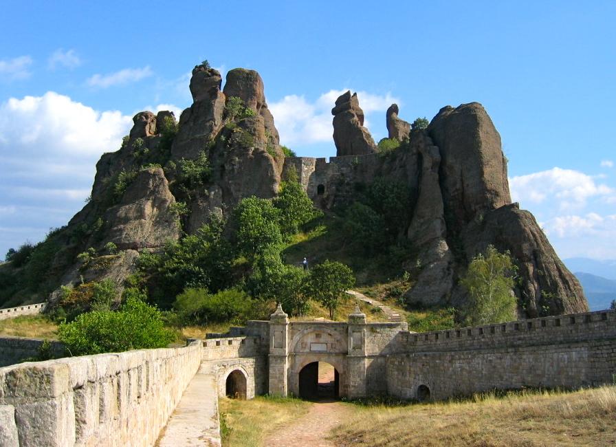 Belogradchik fortress in the Balkan Mountains of Bulgaria.