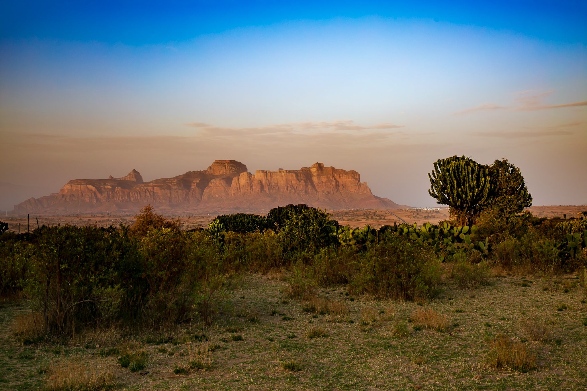 Stunning desert landscapes surround several of Tigray's rock-hewn churches. // photo © Kim I. Mott