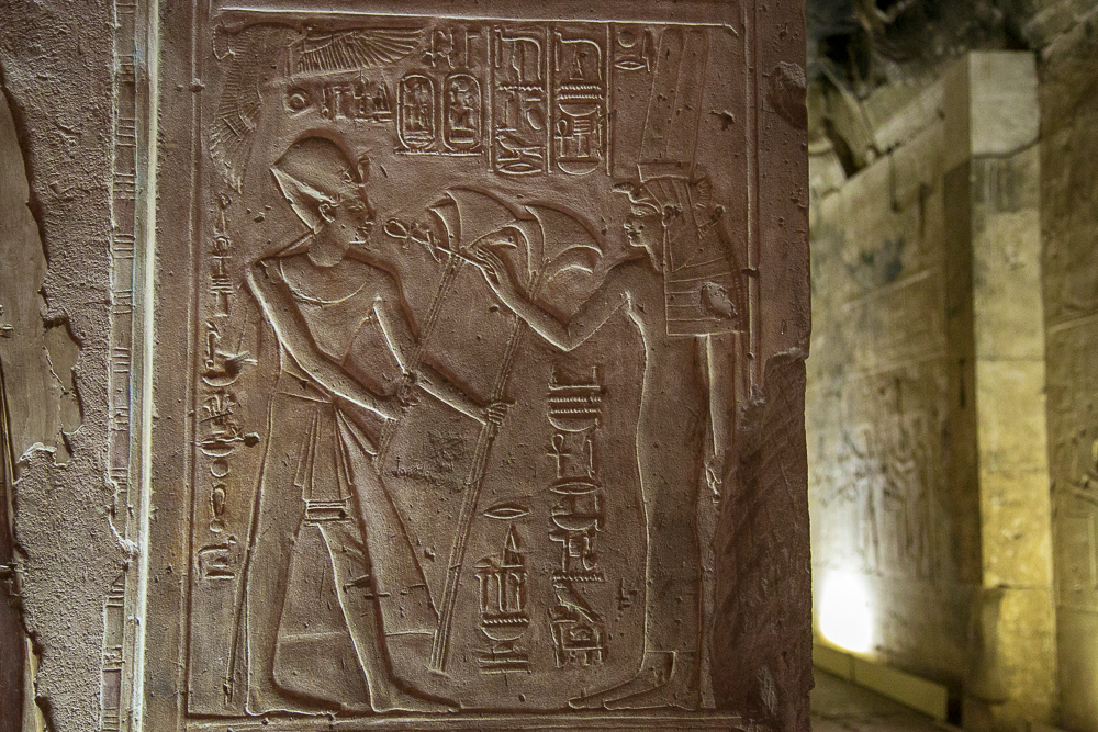 Temple hieroglyphics in Luxor, Egypt © Kim I. Mott, all rights reserved