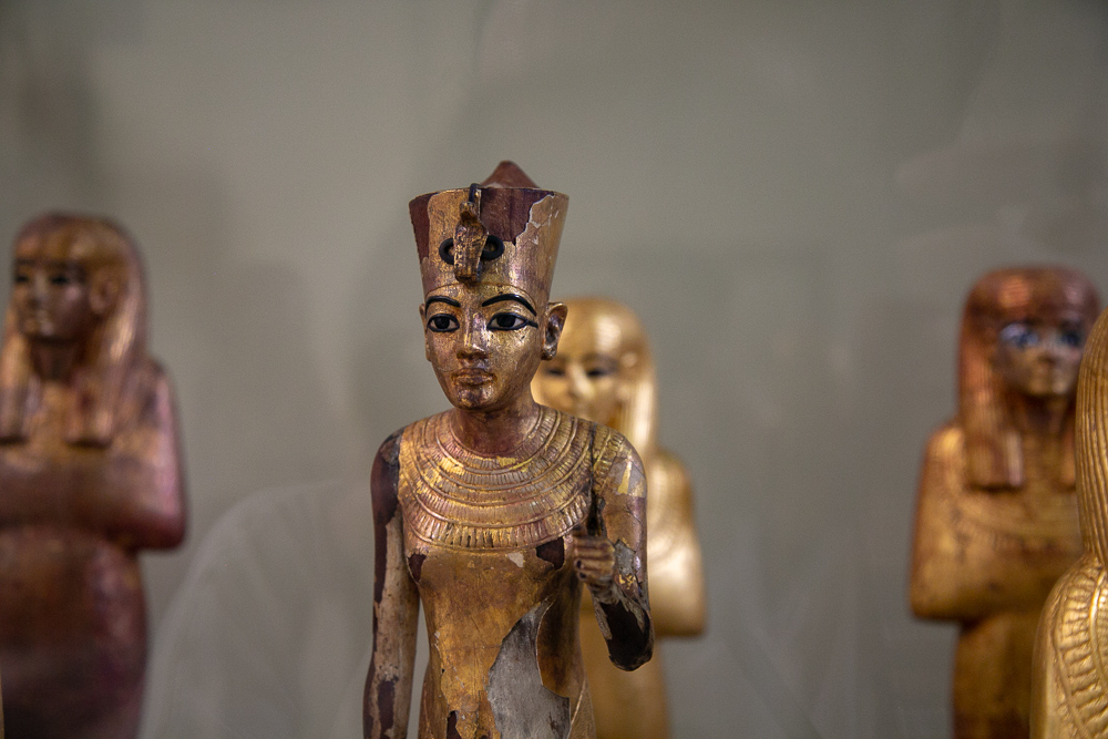 Ancient statues in the Egyptian Museum of Antiquities in Cairo, Egypt © Kim I. Mott, all rights reserved