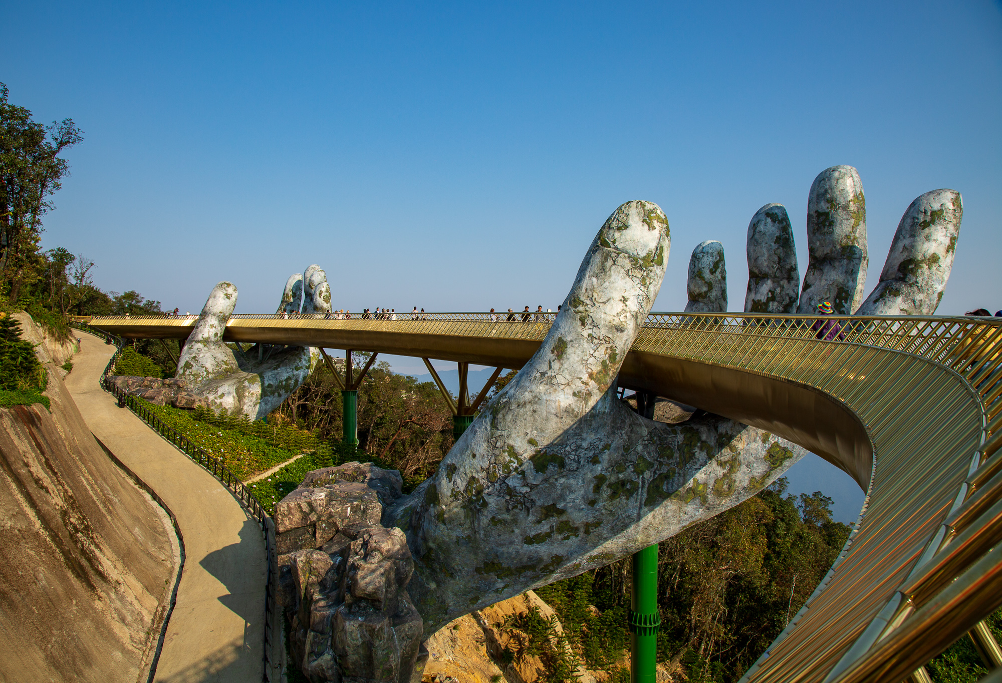 The Golden Bridge at Ba Na Hills in Central Vietnam  for    Lonely Planet