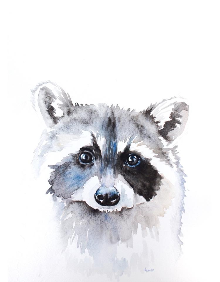 Raccoon watercolor | ampersandmother.com