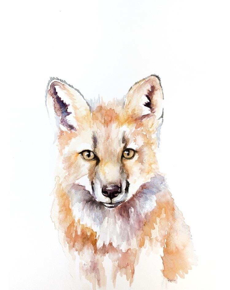 Fox watercolor | ampersandmother.com
