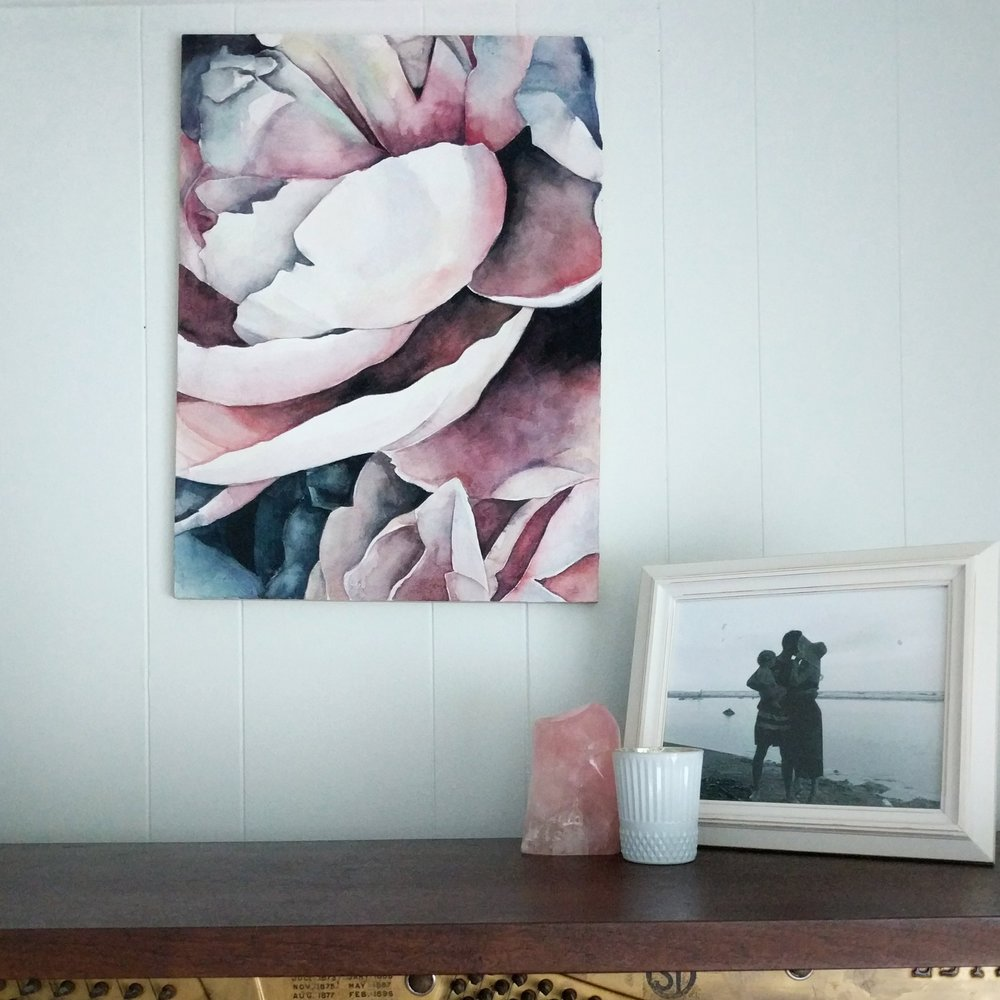 Large peony watercolor | ampersandmother.com
