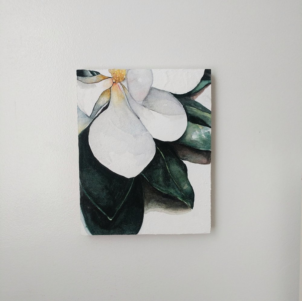 magnolia blossom watercolor | ampersandmother.com