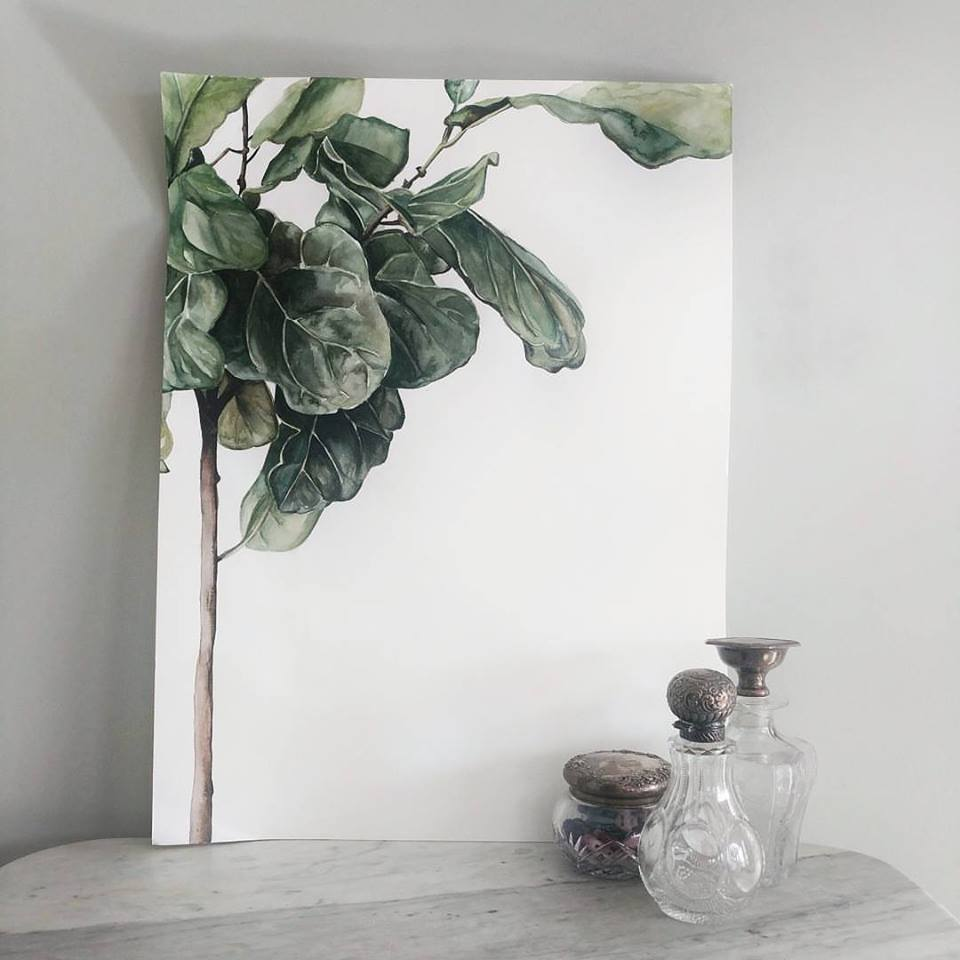 Fiddle Leaf Tree watercolor | ampersandmother.com