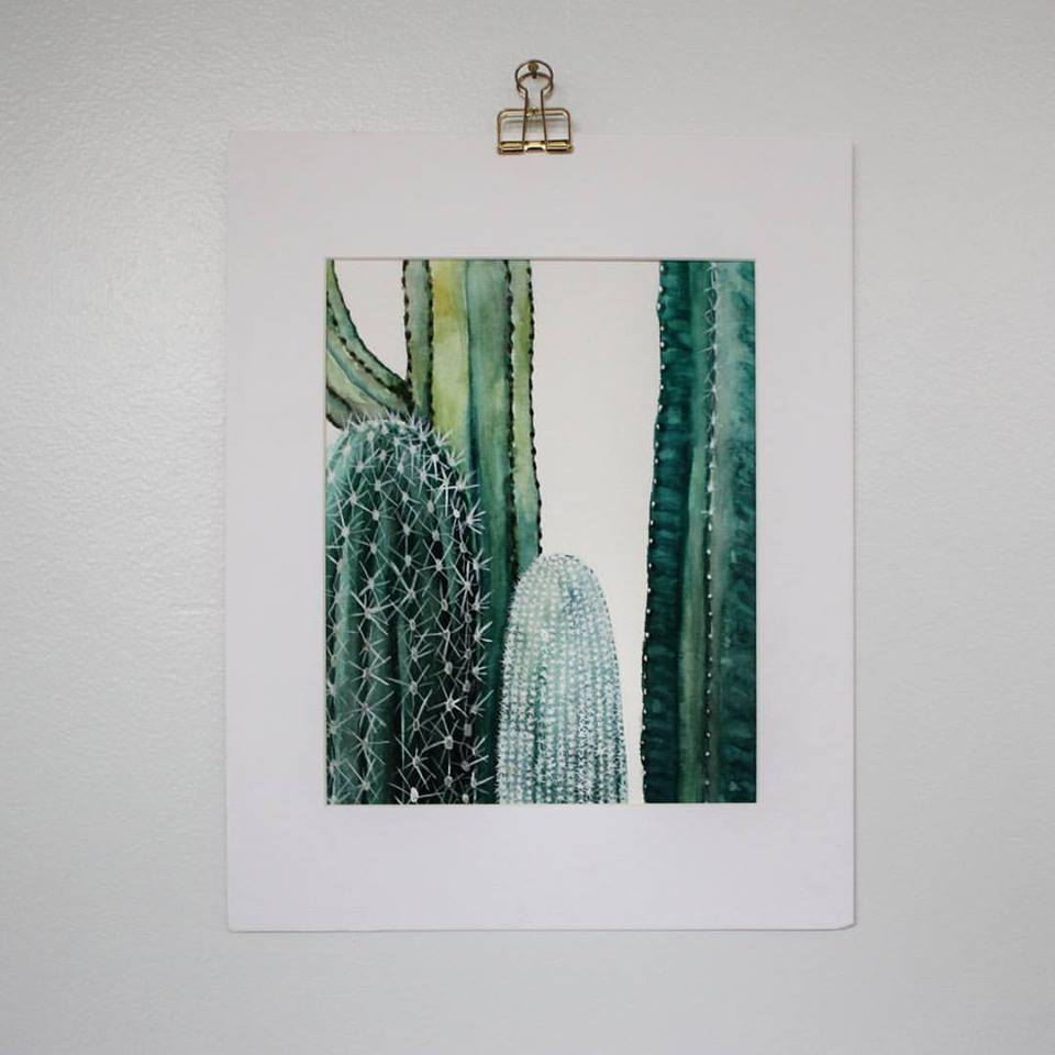 Cactus watercolor | ampersandmother.com