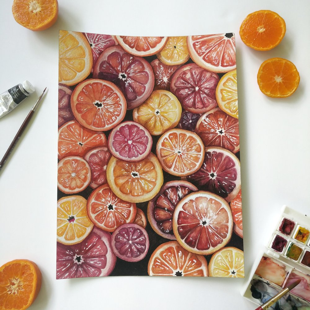 Orange watercolor | ampersandmother.com
