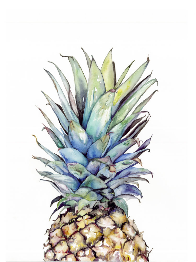 Watercolor pineapple | ampersandmother.com